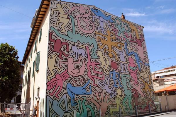 MURALE TUTTOMONDO di Keith Haring - LE TANTE BELLEZZE di PISA.....